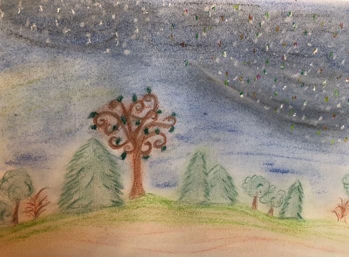 Schneeflocken Wettrennen Landschaft